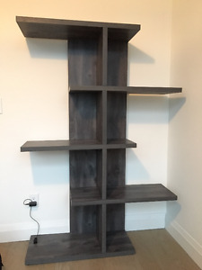 Contemporary solid wood bookcase