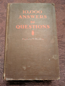 1926 Edition of 10000 Answers to Questions