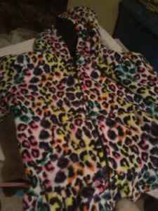 Colourful leopard print hoodie