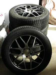 Michelin XIce Xi3 Winter Tires on Alloy Fast Rims 17 inch