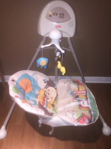 Fisher price Baby Swing and more used articles for babies