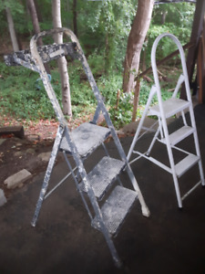 3 Step Aluminum Step Ladder ,  & 1 with Painter's Platform
