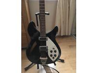 Rickenfaker 330 style semi acoustic guitar