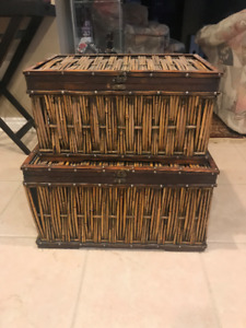 2 Large Wicker Chests
