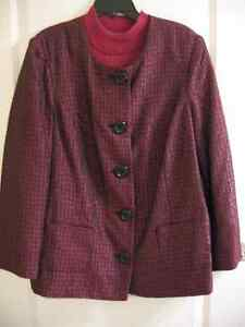DRESS JACKET (16W) WITH MATCHING TOP (1X)