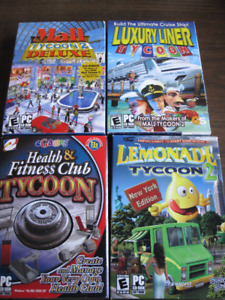 PC GAMES - Mall Tycoon, Luxury Liner Tycoon,Fitness Club Tycoon