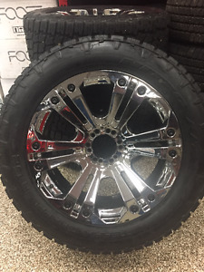 XD Monster Rims and Nitto Terra Grappler Tires 285/55 R22 for GM