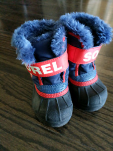 Sorel winter boots, toddler size 4