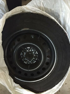 4 winter tires with rims almost NEW, ONLY with 1-winter