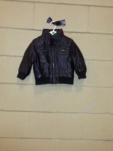 Child's Leather-look H&M toddler boys  Moto Bicycle Jacket/Coat