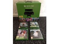 Xbox one 500 go with Kinect brand new and sealed with 7 game bundle