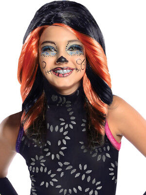 Child Monster High Skelita Calaveras Wig Fancy Dress Accessory Halloween Kids ()