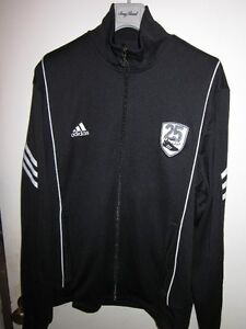 AUTHENTIC MENS ADIDAS FOOTBALL TRACK JACKET BLACK