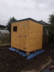 7ft x 5ft Pent Garden Shed