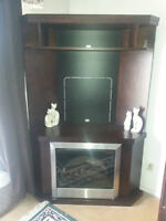 TV/Fireplace entertainment stand