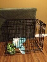 Small wire dog cage