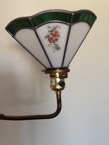 Antique stained glass floor lamp