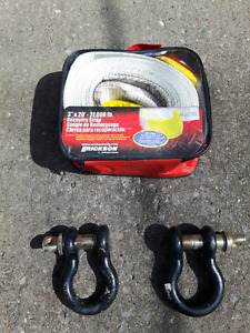 Sling pour off-road avec manille (shackle)