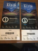 2 Amazing tickets for Grey Cup. Row 1