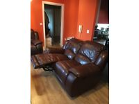 Brown leather sofa's for sale ASAP