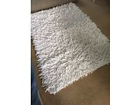 Chenille cream large rug