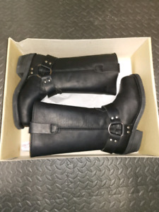 Brand New RHYNO Women's Leather Motorcycle Boots
