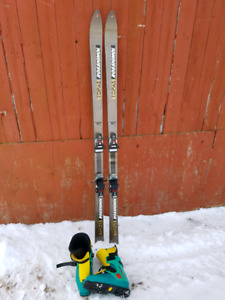 Back country skis and boots package