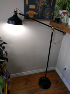 Mid-century modern floor lamp, adjustable, 2 available