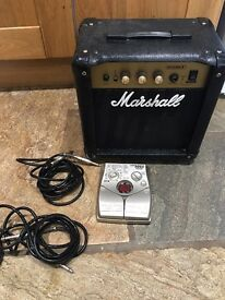 Mashall G10 MK.ii amp, effects peddle and leads