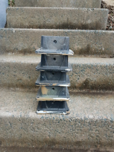 """For sale: 5- 4""""×4"""" deck railing post fasteners. $5 each or $20 f"""