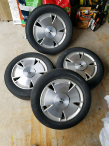 Tires & rims from a 2011 Honda Fit LX