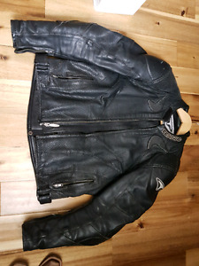 Teknic Black Leather Motorcycle Jacket