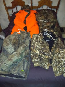 Hunting gear huge selection like new clothing bags + more