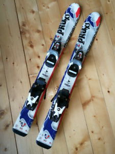 Youth Rossignol skis and bindings.