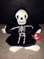 Skeleton Beanie Baby with Tags for Halloween - $5