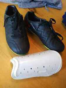 Soccer cleats and shin guards for sale