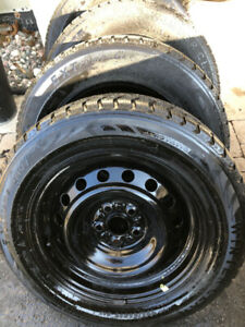 Toyota Corolla or Matrix rims with Winters Extreme 195 65 15
