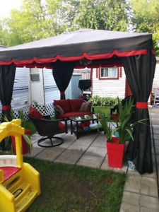 Roulotte camping domaine rouville