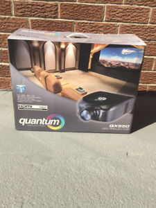 Brand New Quantum LED Projector QX550 and Screen  $325