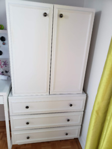 Commode 2 tablettes et 3 tiroirs