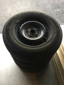 195/65R15 Good Year Nordic sur roue volks
