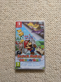 Paper Mario Nintendo Switch game near new