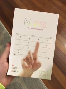 Nums ultra-thin smart keyboard for Apple Macbook, MacBook Pro