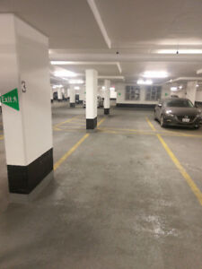 Underground parking spot for rent in downtown