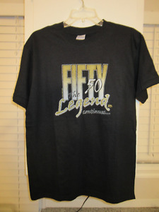 50th Birthday t-shirt.  Fifty The Legend Continues. Legend boat.