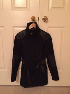 Ladies Danier Wool and Leather Coat - Size 3XS - $75.00