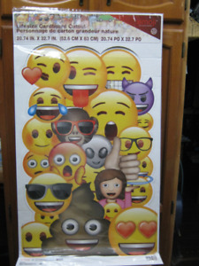 "large emoji cardboard standing cutout decoration. 33""x21"". firm"