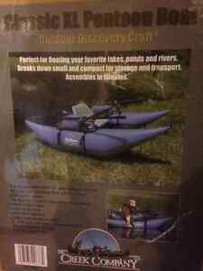 Pontoon fishing raft