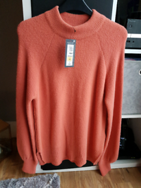 Marks & Spencer Cosy Turtle Neck Jumper Colour SUNSET size XS BNWT