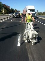 Pavement marking , Line painting , Durable markings